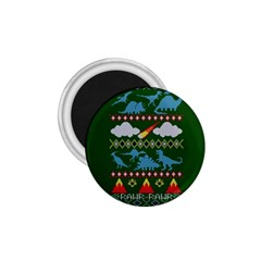 My Grandma Likes Dinosaurs Ugly Holiday Christmas Green Background 1 75  Magnets
