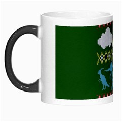 My Grandma Likes Dinosaurs Ugly Holiday Christmas Green Background Morph Mugs