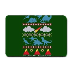 My Grandma Likes Dinosaurs Ugly Holiday Christmas Green Background Small Doormat
