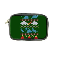 My Grandma Likes Dinosaurs Ugly Holiday Christmas Green Background Coin Purse
