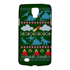 My Grandma Likes Dinosaurs Ugly Holiday Christmas Green Background Galaxy S4 Active