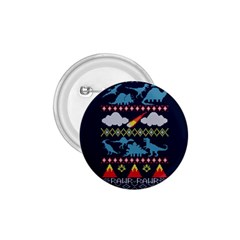 My Grandma Likes Dinosaurs Ugly Holiday Christmas Blue Background 1 75  Buttons