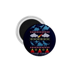 My Grandma Likes Dinosaurs Ugly Holiday Christmas Blue Background 1 75  Magnets