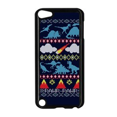 My Grandma Likes Dinosaurs Ugly Holiday Christmas Blue Background Apple Ipod Touch 5 Case (black)