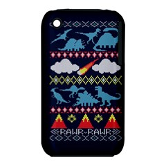 My Grandma Likes Dinosaurs Ugly Holiday Christmas Blue Background Iphone 3s/3gs