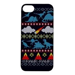 My Grandma Likes Dinosaurs Ugly Holiday Christmas Blue Background Apple Iphone 5s/ Se Hardshell Case