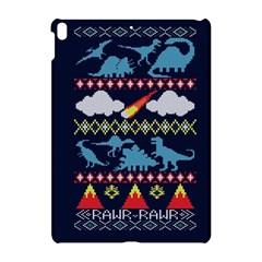 My Grandma Likes Dinosaurs Ugly Holiday Christmas Blue Background Apple Ipad Pro 10 5   Hardshell Case