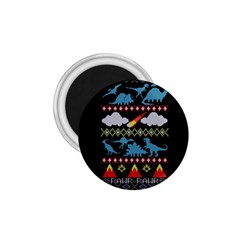 My Grandma Likes Dinosaurs Ugly Holiday Christmas Black Background 1 75  Magnets