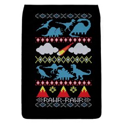 My Grandma Likes Dinosaurs Ugly Holiday Christmas Black Background Flap Covers (l)