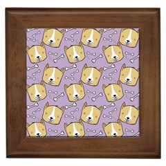 Corgi Pattern Framed Tiles