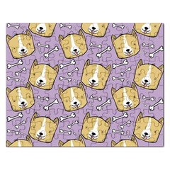 Corgi Pattern Rectangular Jigsaw Puzzl