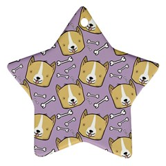 Corgi Pattern Star Ornament (two Sides)