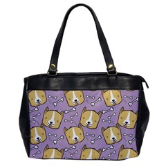 Corgi Pattern Office Handbags