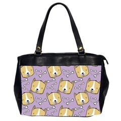 Corgi Pattern Office Handbags (2 Sides)