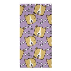 Corgi Pattern Shower Curtain 36  X 72  (stall)