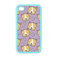 Corgi Pattern Apple Iphone 4 Case (color)
