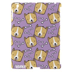 Corgi Pattern Apple Ipad 3/4 Hardshell Case (compatible With Smart Cover)
