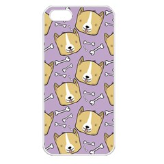 Corgi Pattern Apple Iphone 5 Seamless Case (white)
