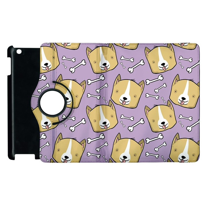 Corgi Pattern Apple iPad 3/4 Flip 360 Case