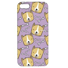 Corgi Pattern Apple Iphone 5 Hardshell Case With Stand