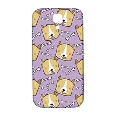 Corgi Pattern Samsung Galaxy S4 I9500/i9505  Hardshell Back Case