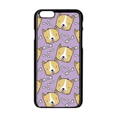 Corgi Pattern Apple Iphone 6/6s Black Enamel Case