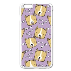 Corgi Pattern Apple Iphone 6 Plus/6s Plus Enamel White Case