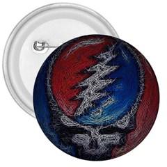 Grateful Dead Logo 3  Buttons