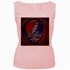Grateful Dead Logo Women s Pink Tank Top