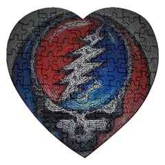 Grateful Dead Logo Jigsaw Puzzle (heart)