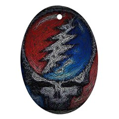 Grateful Dead Logo Oval Ornament (two Sides)