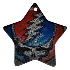 Grateful Dead Logo Star Ornament (two Sides)
