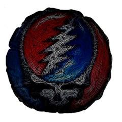 Grateful Dead Logo Large 18  Premium Round Cushions