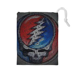 Grateful Dead Logo Drawstring Pouches (large)