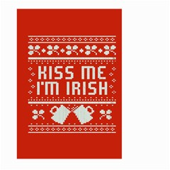 Kiss Me I m Irish Ugly Christmas Red Background Large Garden Flag (two Sides)