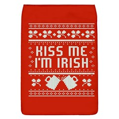 Kiss Me I m Irish Ugly Christmas Red Background Flap Covers (l)