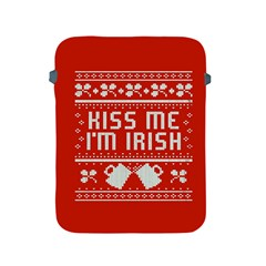 Kiss Me I m Irish Ugly Christmas Red Background Apple Ipad 2/3/4 Protective Soft Cases