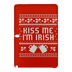 Kiss Me I m Irish Ugly Christmas Red Background Samsung Galaxy Tab Pro 10 1 Hardshell Case