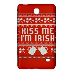 Kiss Me I m Irish Ugly Christmas Red Background Samsung Galaxy Tab 4 (8 ) Hardshell Case