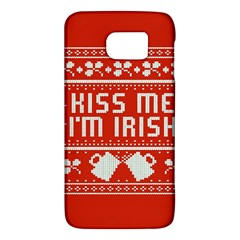Kiss Me I m Irish Ugly Christmas Red Background Galaxy S6