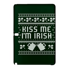 Kiss Me I m Irish Ugly Christmas Green Background Samsung Galaxy Tab Pro 10 1 Hardshell Case