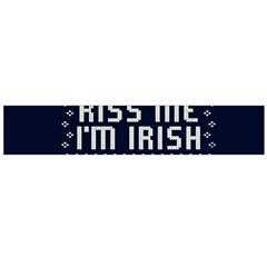 Kiss Me I m Irish Ugly Christmas Blue Background Flano Scarf (large)
