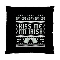 Kiss Me I m Irish Ugly Christmas Black Background Standard Cushion Case (one Side)