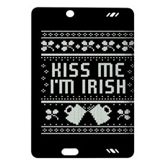 Kiss Me I m Irish Ugly Christmas Black Background Amazon Kindle Fire Hd (2013) Hardshell Case