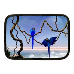 Wonderful Blue  Parrot Looking To The Ocean Netbook Case (medium)