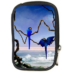 Wonderful Blue  Parrot Looking To The Ocean Compact Camera Cases