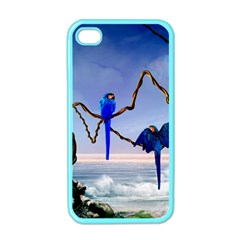 Wonderful Blue  Parrot Looking To The Ocean Apple Iphone 4 Case (color)