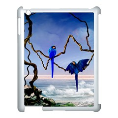 Wonderful Blue  Parrot Looking To The Ocean Apple Ipad 3/4 Case (white)