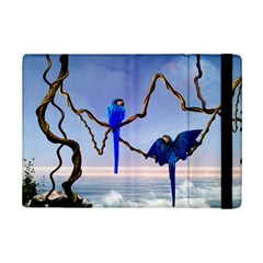 Wonderful Blue  Parrot Looking To The Ocean Ipad Mini 2 Flip Cases