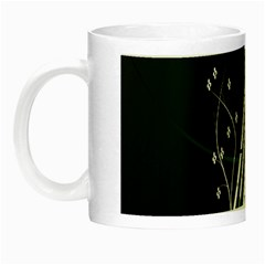Line Light Leaf Flower Floral Black White Beauty Polka Night Luminous Mugs